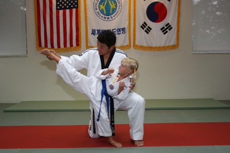 Master Lee with a Sarasota Student